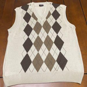Wool argil sweater vest size large